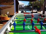 Table football and ping pong table